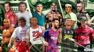 Los deportistas mejor pagados de 1990 a 2019: Aparición, evolución y...