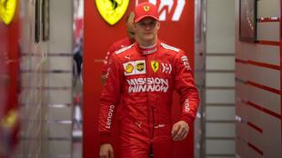 Mick Schumacher, durante una prueba con Ferrari.