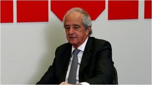 Rodolfo D'Onofrio, durante una visita que realizó a MARCA.