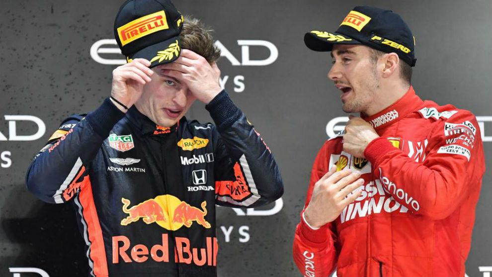 Verstappen y Leclerc, en la última cita del año en Abu Dabi.