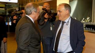 Florentino Pérez y Javier Tebas