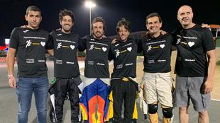 El equipo de FA Karting, en Dubai.