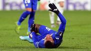 Kenedy tendido en el suelo en el duelo ante el Krasnodar