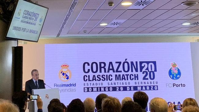 Florentino Pérez, durante la presentación del Classic Match