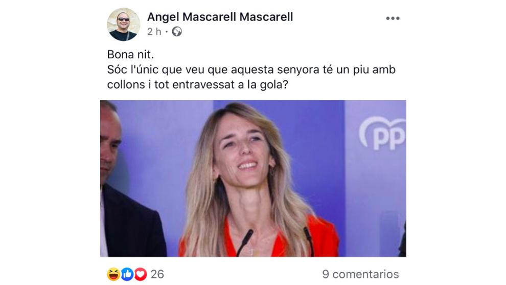 Ángel Mascarell hizo un desafortunado comentario que está siendo muy criticado