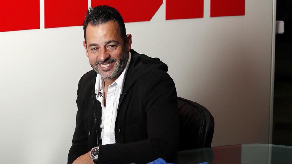 Mere Hermoso, entrenador del Fuenla, en MARCA