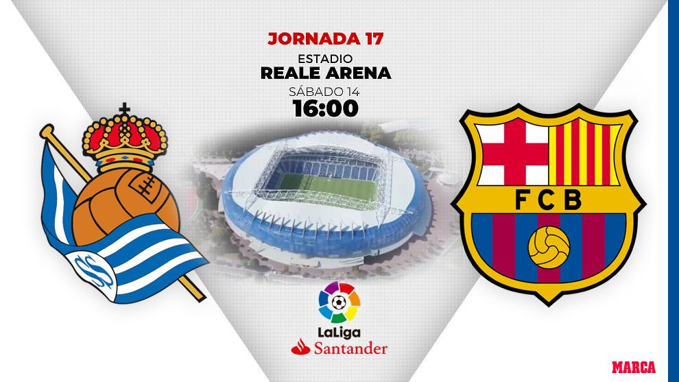 Real Sociedad - Barcelona: horario y dónde ver en television hoy el...