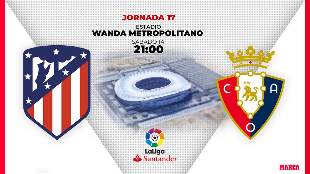 Atlético de Madrid - Osasuna: horario y dónde ver en television hoy...