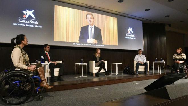 Los deportistas Teresa Perales, Xavi Porras, Gerard Descarrega y Eva Moral.
