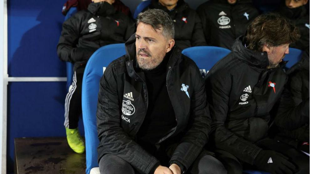 Óscar García, durante el partido de Liga ante el Leganés en Butarque.