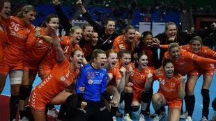 Las jugadoras holandesas celebrando su pase a la final /