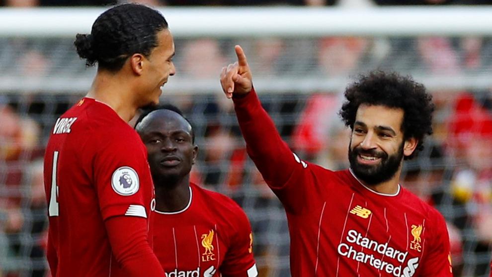 Salah festeja uno de sus goles