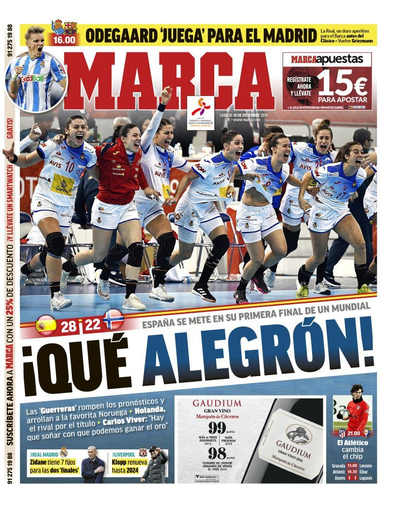 La portada de MARCA reconocer el esfuerzo de las 'Guerreras' | MARCA