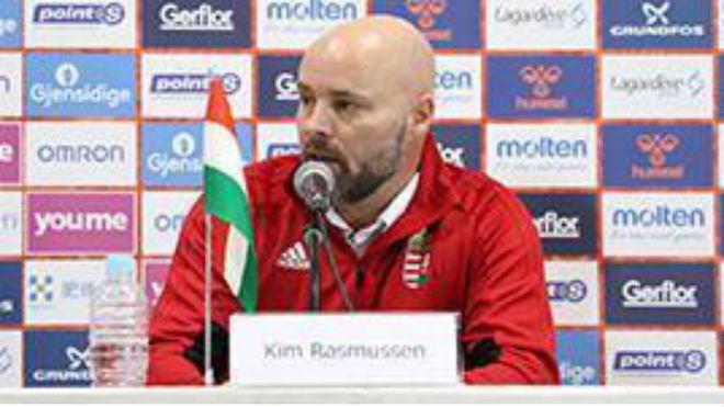 Kim Rasmussen, durante la ruda de prensa por la que ha sido...