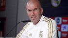 Zidane en conferenia en Valdebebas.