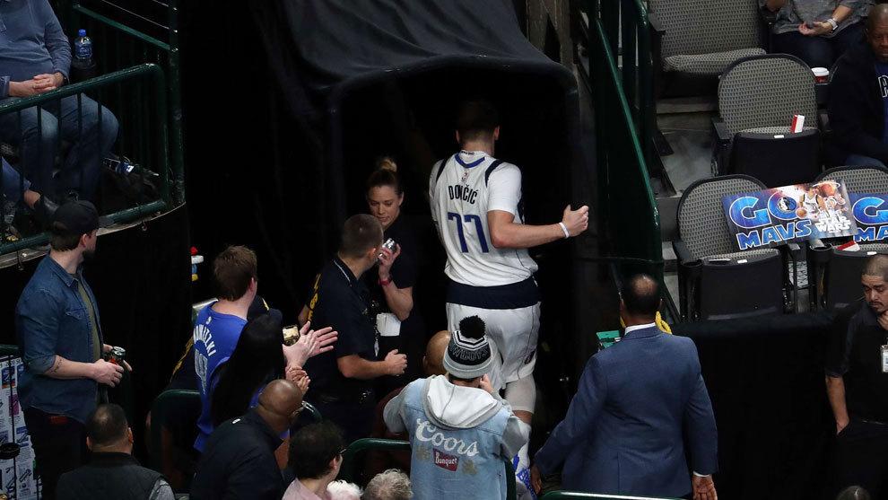 La lesión de Doncic: la imagen que heló a la NBA