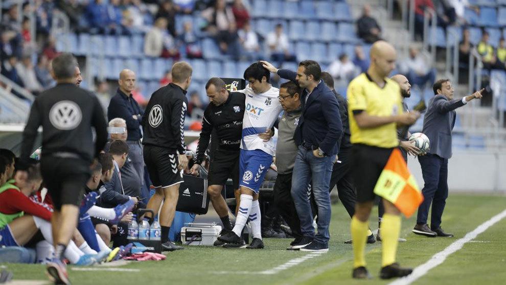 Borja Lasso se retira lesionado del Heliodoro Rodríguez
