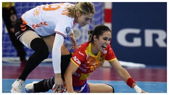 Lance del encuentro de la final entre Holanda y España /