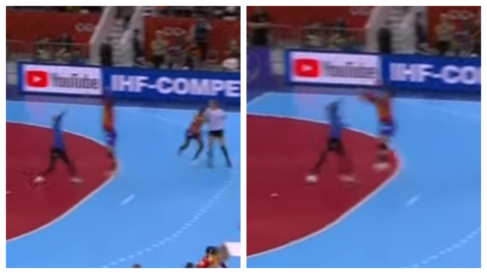 Capturas de la acción que dio lugar al penalti decisivo del partido