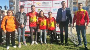 En el centro la tríada ganadora: Peñafiel, Fernández Miranda y...