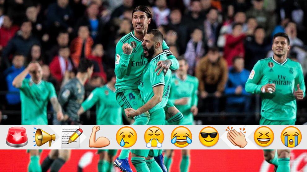 Ramos and Benzema celebrate
