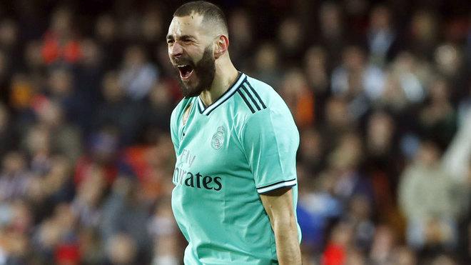 Benzema was on target at Mestalla