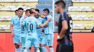 El Bolivar, en un partido de Primera División.