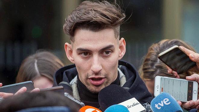 Carlos Cuadrado, uno de los tres exjugadores del Arandina acusados de...