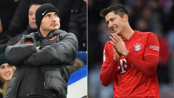 Lampard y Lewandowski.