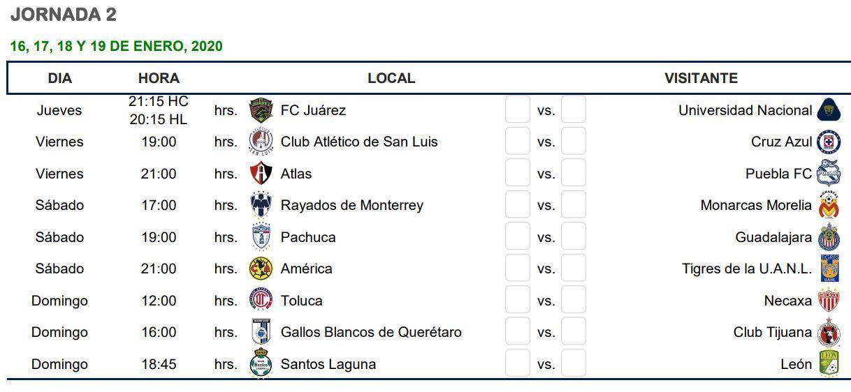 liga mx apertura 2020