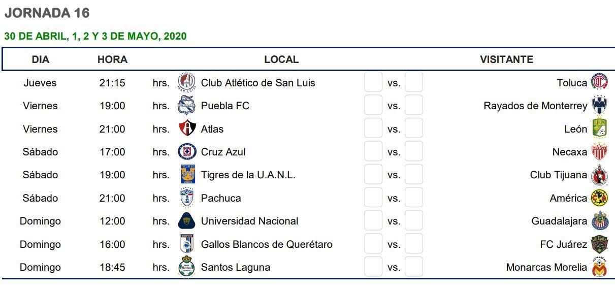 resultados de la liguilla mexicana 2020