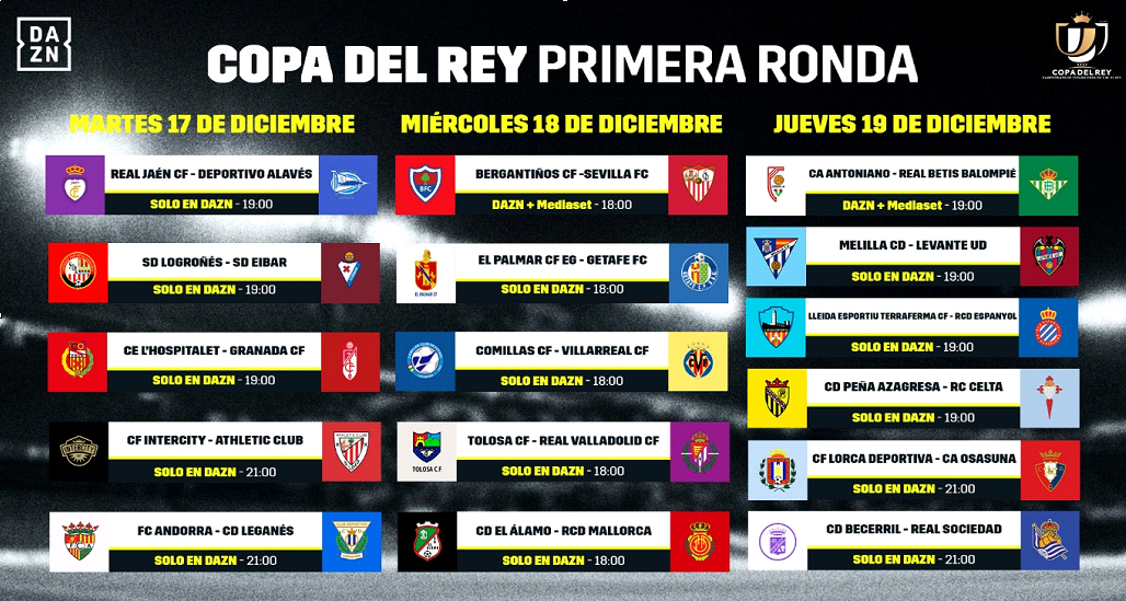 Destello paralelo capitalismo  Copa del Rey: Horario y dónde ver por TV y online hoy los partidos de la  primera ronda de la Copa del Rey | Marca.com
