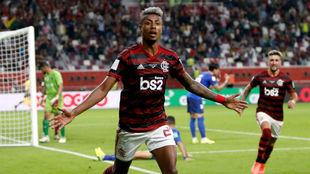 Bruno Henrique celebra su gol ante el Al Hilal