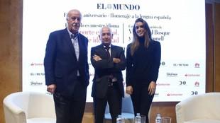 Del Bosque, Orfeo Suárez y Ona Carbonell en el foro  'El deporte...