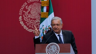 López Obrador durante una conferencia de prensa.
