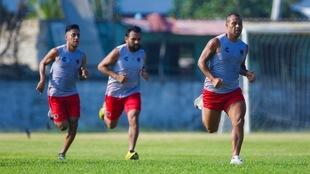 Jugadores del Veracruz durante una pretemporada.