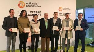 Los premiados como 'Silvestres del Año', en el estadio de...