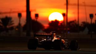 El McLaren, en Abu Dhabi.