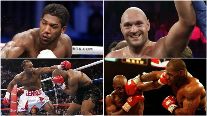 Imágenes de Joshua, Fury, y los combates de Tyson contra Lewis y...