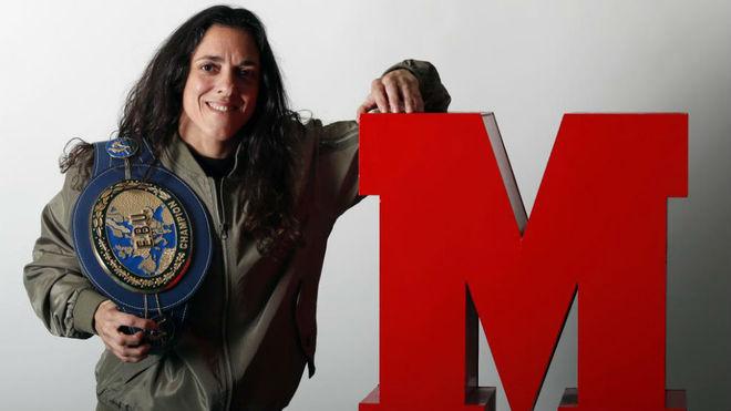 Katy Díaz en MARCA durante su visita al programa 'MarcaBox'.