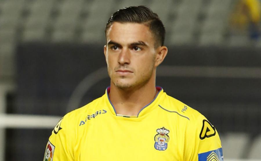 Asdrúbal Padrón en su etapa como jugador de Las Palmas.