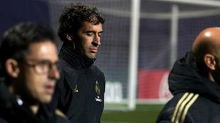 Raúl, en un partido del Castilla.