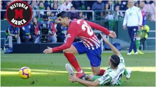 Morata en el momento del penalti que no se señaló
