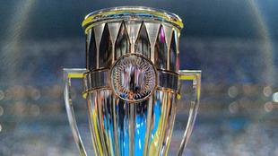 El trofeo de la Liga de Campeones de la Concacaf.