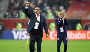 Antonio Mohamed festeja el tercer lugar del Mundial de Clubes