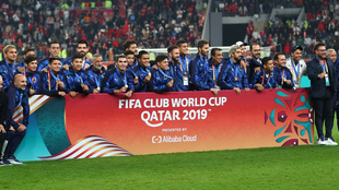 Monterrey en la premiación del Mundial de Clubes.