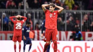 Javi Martínez, en un partido del Bayern en la Champions League.