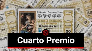 Lotería de Navidad 2019: Cuartos premios del sorteo extraordinario
