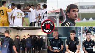 Raúl, en distintos momentos de la temporada y el Castilla, llegando a...
