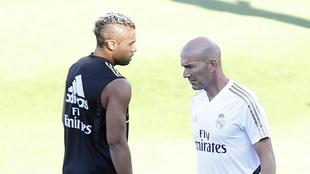Mariano y Zidane, en un entrenamiento de la temporada pasada